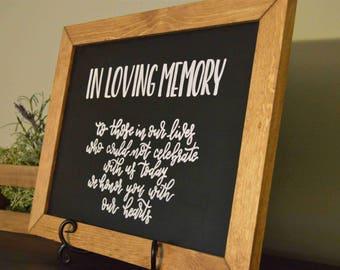 In loving memory | Wedding sign | wedding decor