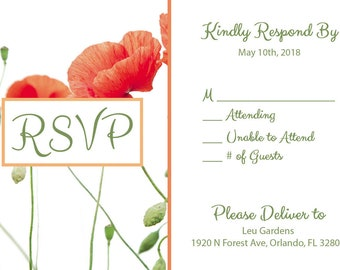 Poppies RSVP Card