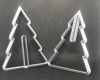 3d Christmas Tree Cookie Cutter Set, Handmade Cookie Cutter Set