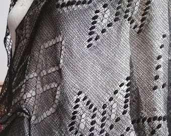 "MADE TO ORDER. Hand knitted Haapsalu shawl ""Crownprince pattern"", traditional Estonian lace, 100% merino."