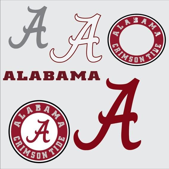 University Of Alabama Svg Alabama A Crimson Tide Logo Vector