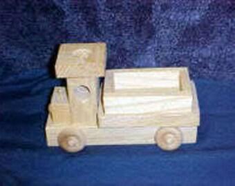 Custom Wood Toy Pickup Truck