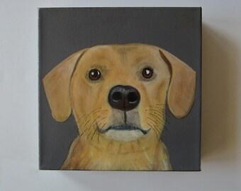 pet portrait, dog painting, portrait, puppy, dog lover gift idea - 8x8 custom pet portrait- pet painting- gift idea for dogs- dog gift idea