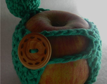 Handcrafted Crochet Apple Cozy - Made With 100% Cotton Yarn