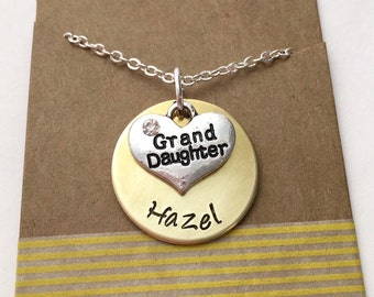 Granddaughter Necklace, Granddaughter Jewelry, Jewelry for Grand Daughter, Gift for Granddaughter
