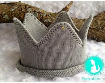 Gray Wild Things Crown, Birthday Crown Prop, Photo Crown Prop