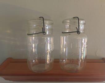Vintage Atlas Glass Quart Size Cannining Jars