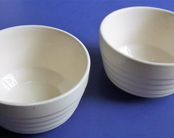 Two 1950s ribbed deep  CEREAL / SOUP  bowls *****