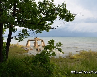 Landscape Photography, Waverly Beach, Stormy Skies, Ruins, Color Photography, Cottage Chic, Fort Erie, Beach Photography, Beachscapes