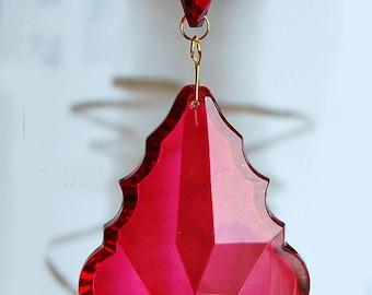 Acrylic CrystalBaroque Leaf Ceiling Lighting Fan Pull