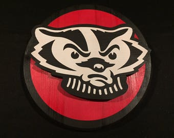 University of Wisconsin Badgers 3D Wall Mounted Wood Sign