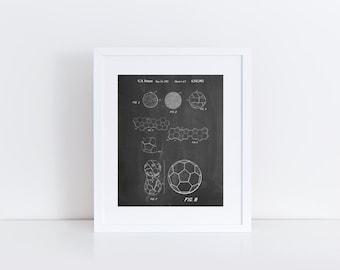 Soccer Ball 1985 Patent Poster, Soccer Gifts, Soccer Room Decor, Soccer Wall Art, PP0054