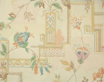 1930s Vintage Wallpaper by the Yard - Antique Floral Wallpaper Art Deco