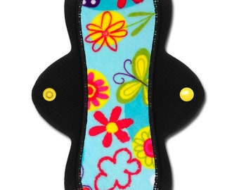 "Reusable Cloth Panty Liner (8 inch Light or Medium - ""Sky"" Minky)"