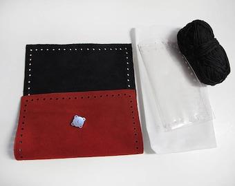 Kit for clutch bag, Leather wallet, Essentials wallet, Womens Lyxury Wallet, smart phone wallet, women's wallet