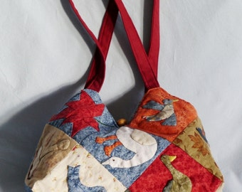 Handbag / satchel / tote / bag / purse in patchwork