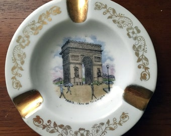 Vintage Paris Ashtray // Limoges // l'Arc de Triomphe // Paris souvenir //  Paris decor // No Smoking!