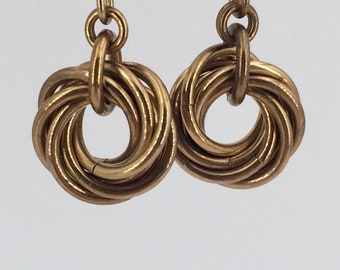 Small Infinity Mobius Earrings