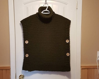 Girl's  Crocheted Poncho