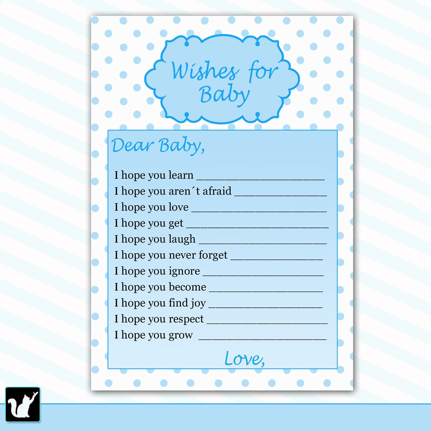 Wishes for baby card new baby messages blue baby wishes zoom kristyandbryce Images