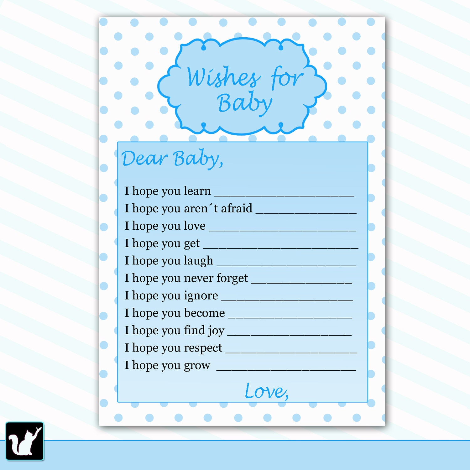 Wishes for baby card new baby messages blue baby wishes zoom kristyandbryce Image collections