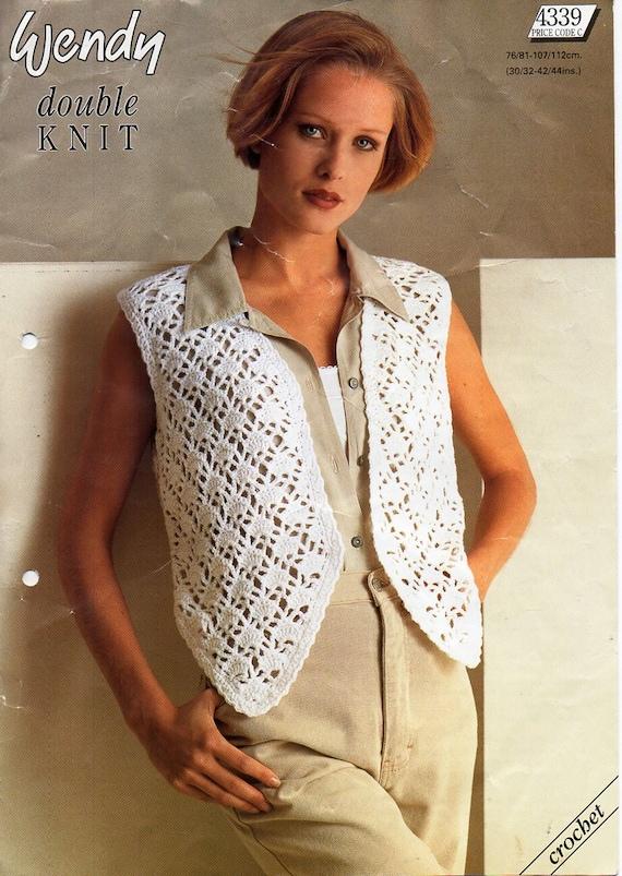 ladies crochet waistcoat pattern crochet pattern pdf womens
