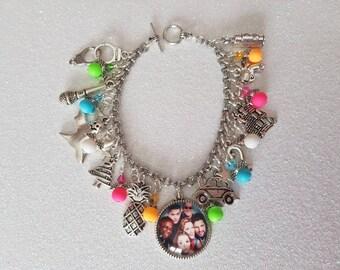 Psych themed charm bracelet