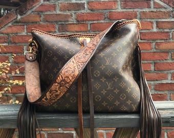 Vintage Swag Fringed Boho-Style Vintage Louis Vuitton Shoulder Bag