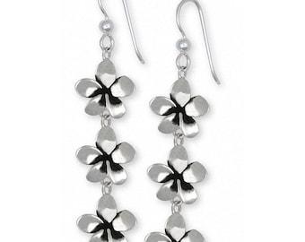 Plumeria Earrings Jewelry Sterling Silver Handmade Flower Earrings PLM1-3E