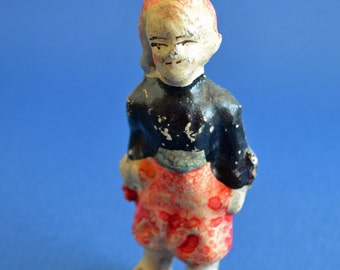 Antique 1800s Rare, Papier Mache French toy soldier
