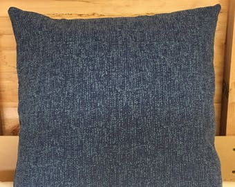 "Blue 24"" x 24"" zipped cushion cover"
