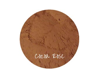 Mineral Makeup Cocoa Rose Blush | Natural Makeup | Rose Blush | Chocolate Makeup | Natural Organic Cosmetics | Vegan Makeup | Pink Makeup