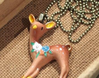 Little deer charm necklace