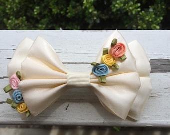 cinderella wedding dress hair bow