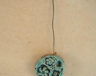 Nail head puck ceramic glazed 5 cm