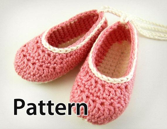 Favorite Crochet Pattern Baby Ballet Flats TD31