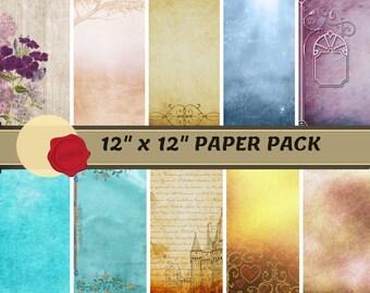 "12' x 12"" Digital Paper - Enchanted Pack"
