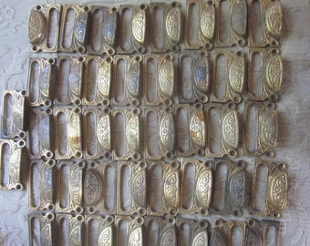 42 brass decorative apothecary store drug label window drawer pulls, gorgeous