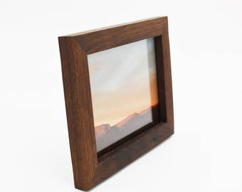 5x7 Solid Walnut Picture Frame, Handmade in Colorado