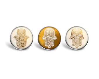Hamsa Ring Set | Hamsa Ring Hamsa Jewelry Bohemian Jewelry Boho Ring Hand of Fatima Evil Eye Protection Ring Gold Hamsa Adjustable Ring