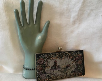 Small Tapestry Box Clutch