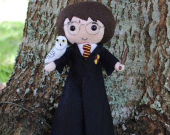Handmade Dolls, Harry Potter, Harry Potter Doll, Hedwig, Harry Potter and Hedwig, Hedwig Owl, Fantastic Beasts and Where to Find Them
