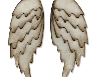 Sizzix - Bigz L Die - Feathered Wings by Tim Holtz