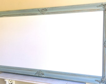 Extra Large DRY ERASE BOARD Magnetic Whiteboard For Sale Huge Dry Erase Board Robins Egg Blue French Blue White Board Long Tall Memo Board
