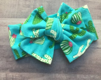 Wrap Headband - Hair Wrap - Headwrap - One Size - Newborn-Toddler-Child-Adult - Flannel -Cacti - Desert - Blooms