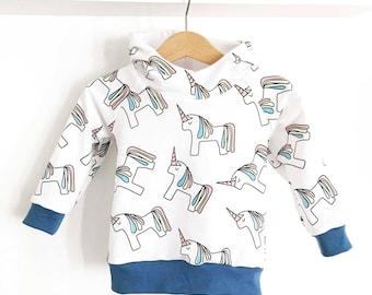 Unicorn hoodie for baby and toddler