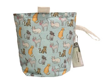 Fashionista Cats Project Bag Bucket Bag size extra tall