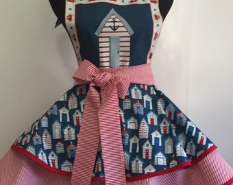 By-the-Sea Nautical Two Tiered Full Flared Woman's Apron