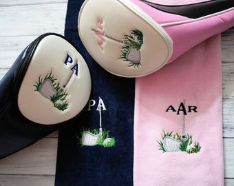 Golf club cover, Ladies Golf Head Cover, Mens Personalized Golf Head Cover, Golf accessories, Ladies gift, Ladies Golf cover, golf gift,