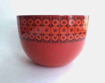 Gorgeous Finel Red Enamel Bowl
